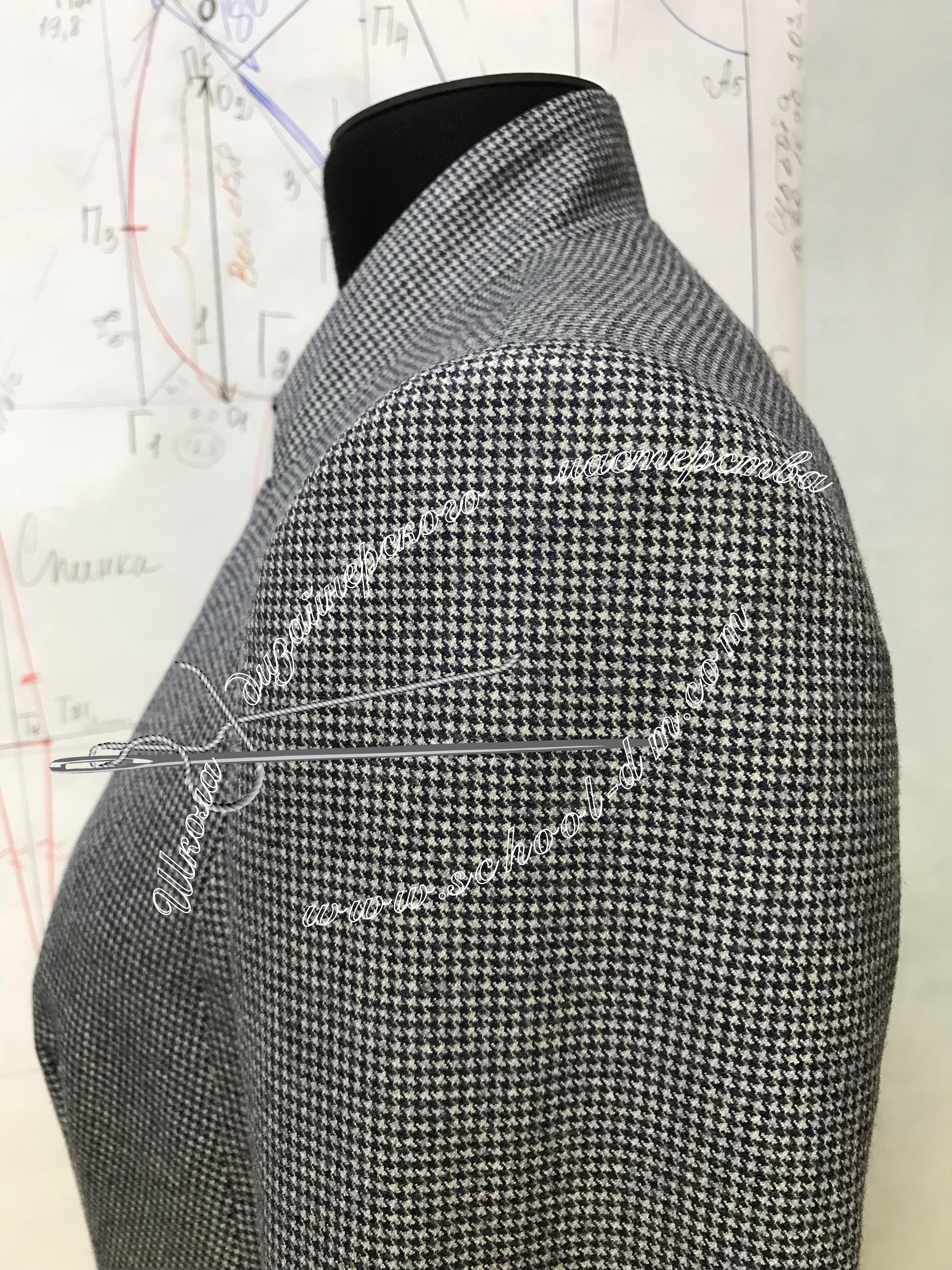 Шить пиджак, двухшовный рукав