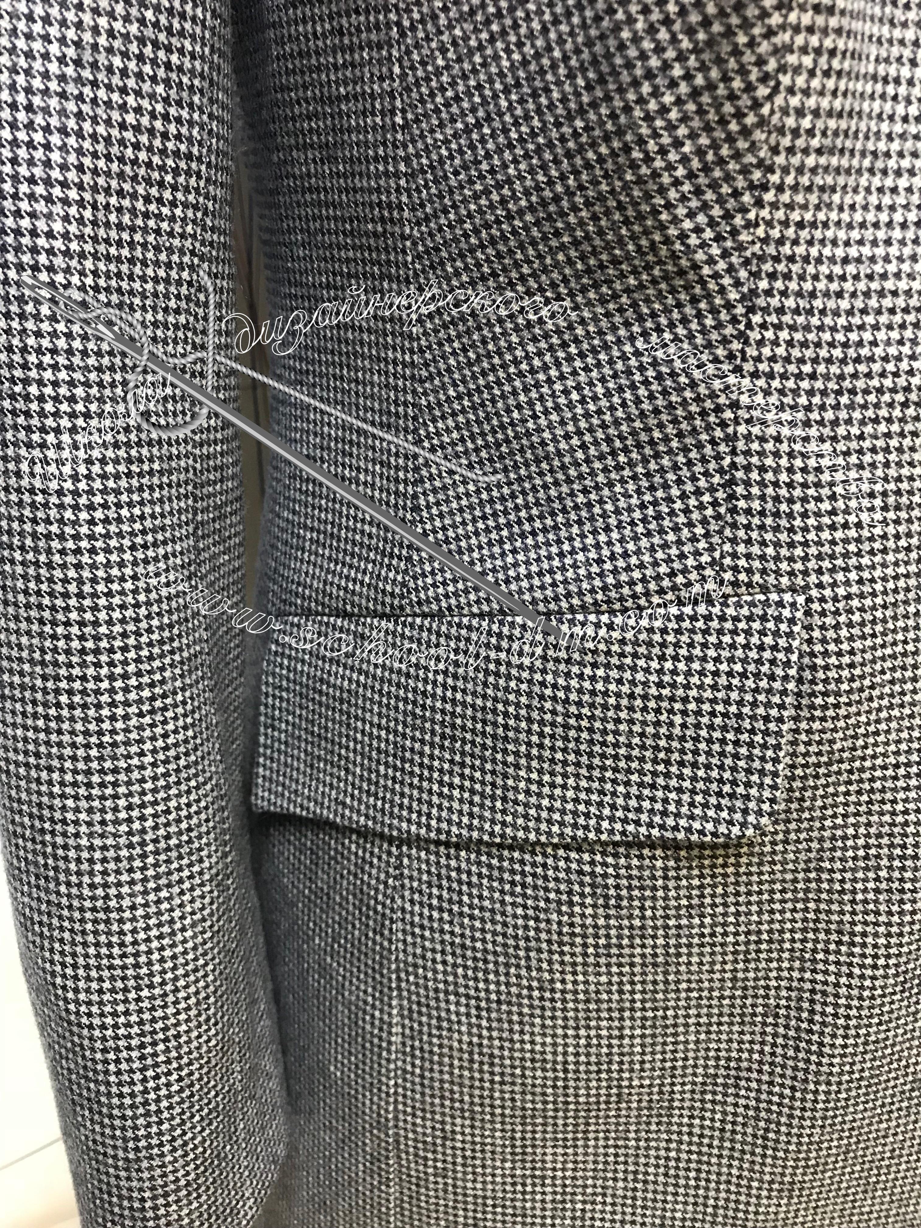 Жакет, пиджак, прорезной карман с клапаном