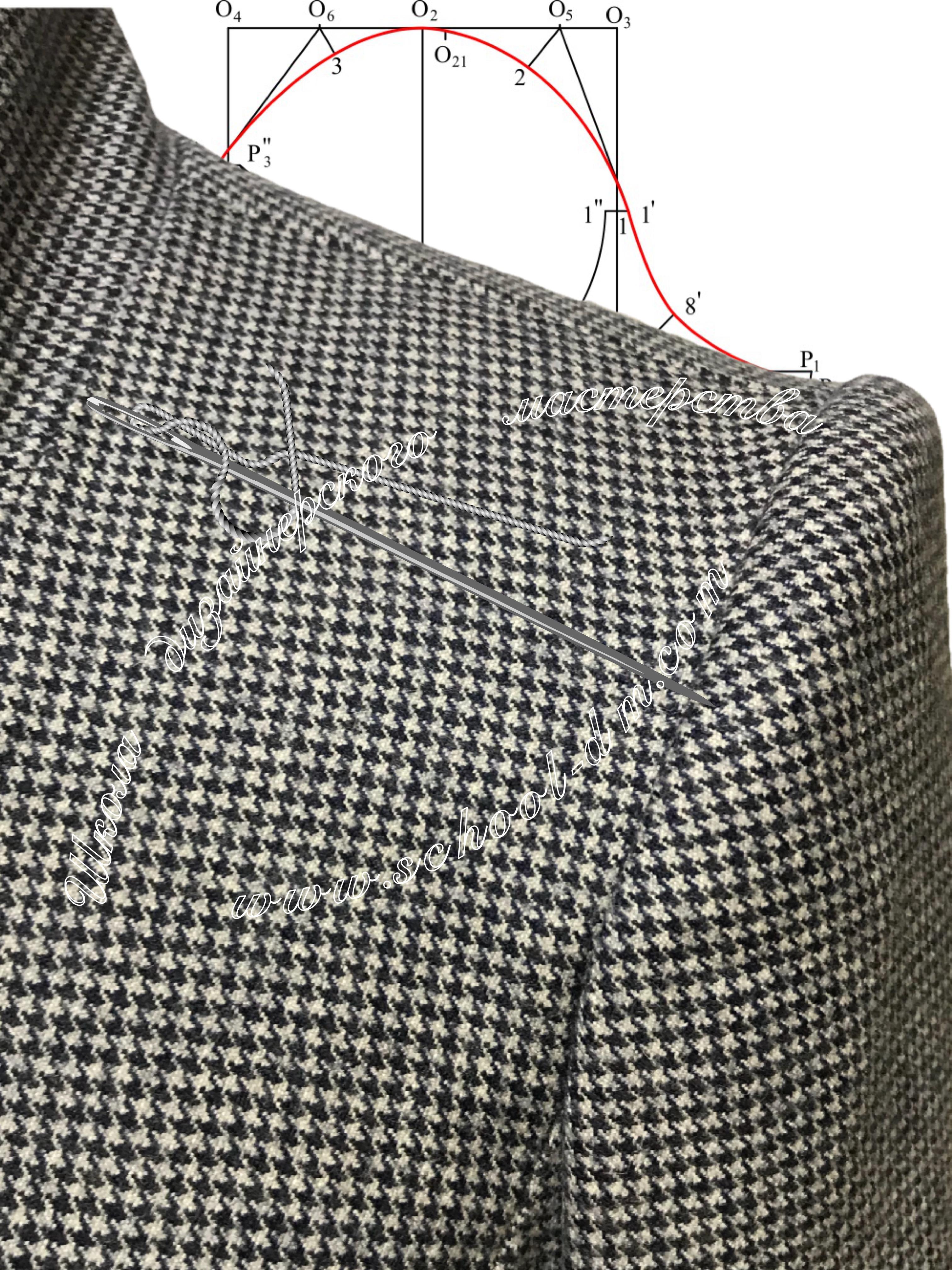Втачивание пиджачного двухшовного рукава