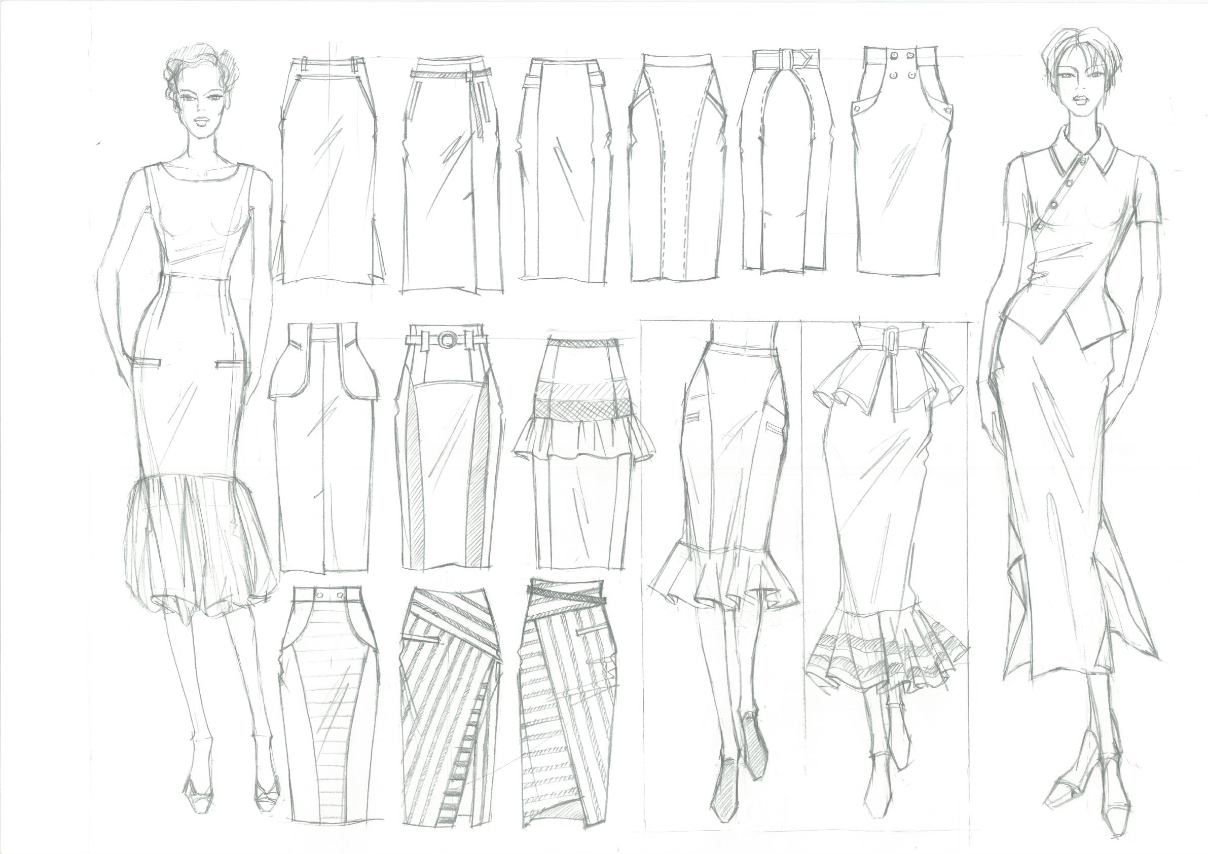 Школа дизайнерского мастерства Рисунок для модельера