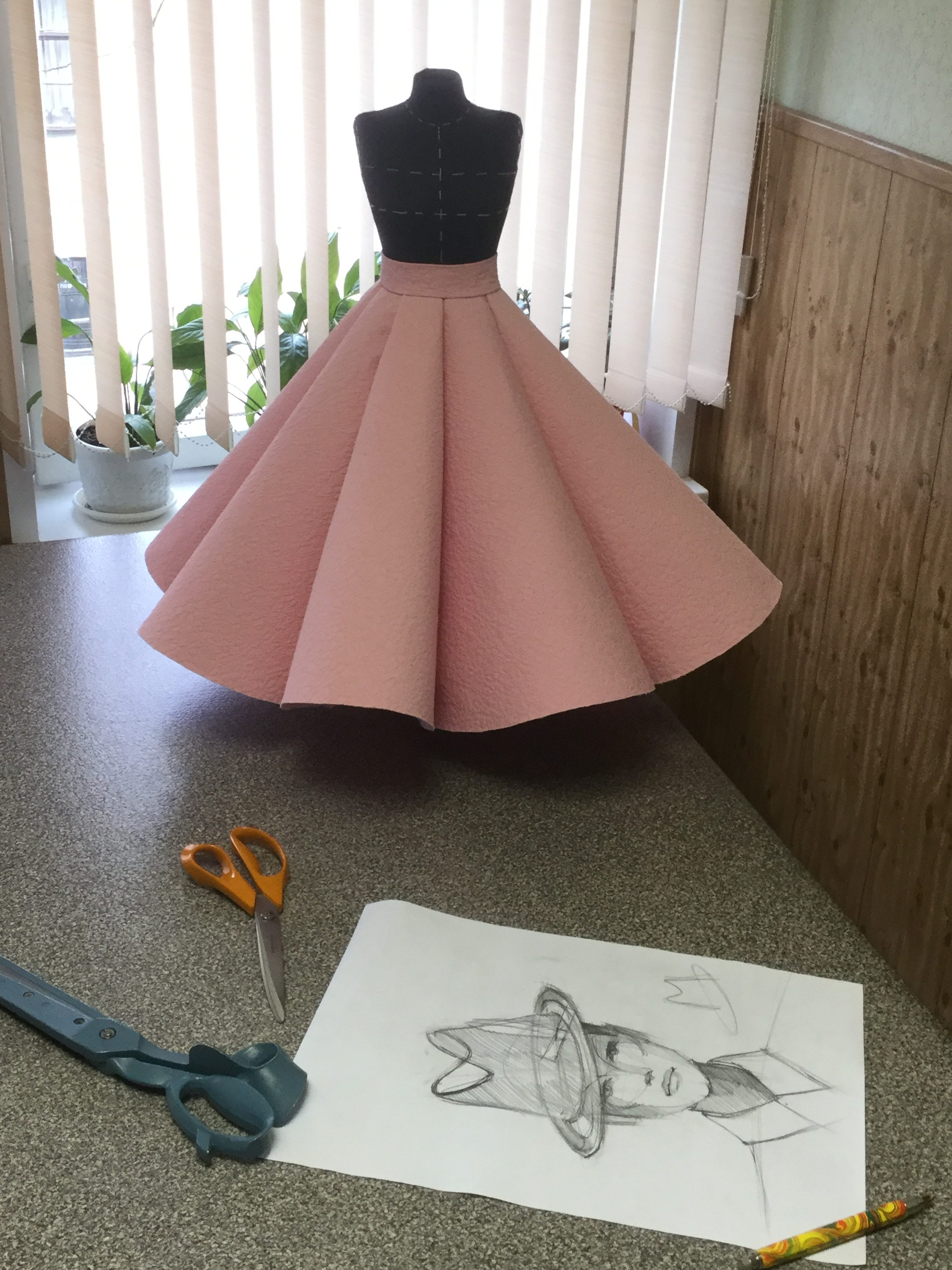 Шить юбку солнце, Школа дизайнерского мастерства, юбка солнце
