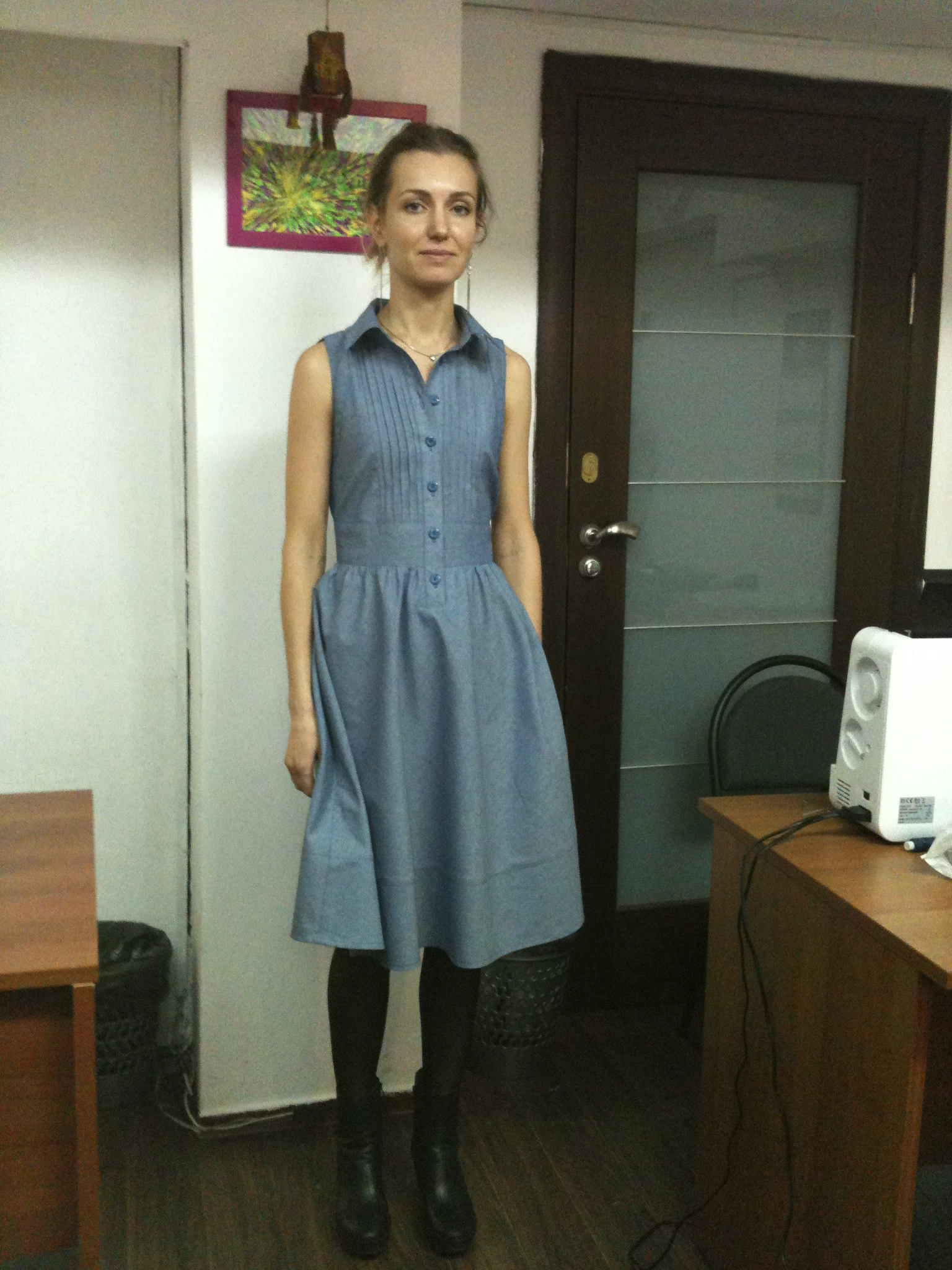 Платье сшито на курсах кройки и шитья Школа дизайнерского мастерства Елизаветы Добрицкой