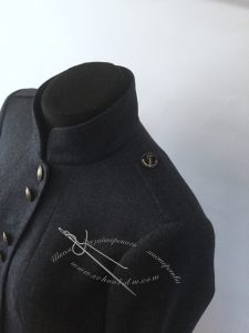 Шить жакет, пиджак, двухшовный рукав, погоны в одежде, стойка, застежка, Школа дизайнерского мастерства