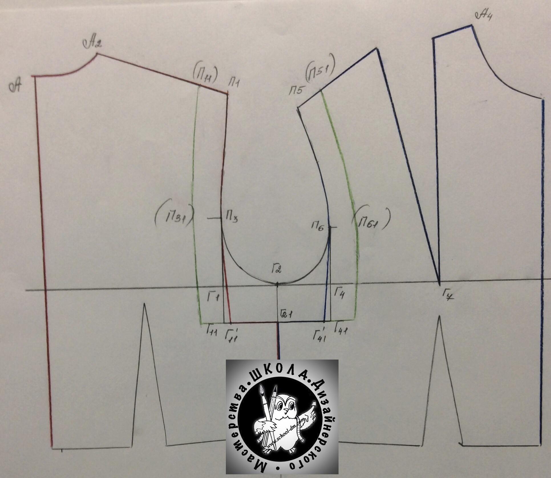 """Курсы кройки и шитья Выкройка с квадратной проймой в """"Школе дизайнерского мастерства"""""""