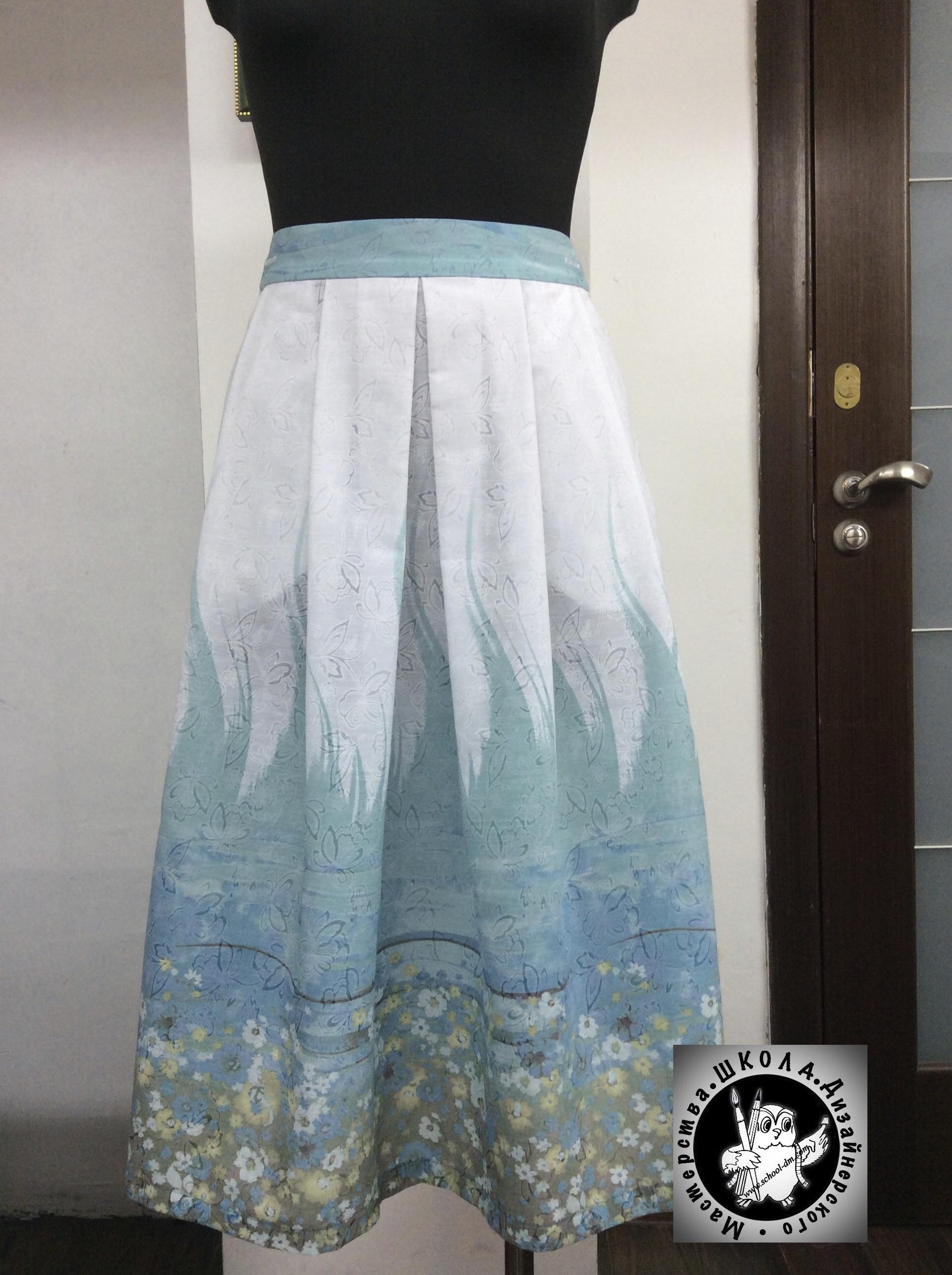 Пошив юбки на курсах кройки и шитья Школа дизайнерского мастерства Елизаветы Добрицкой