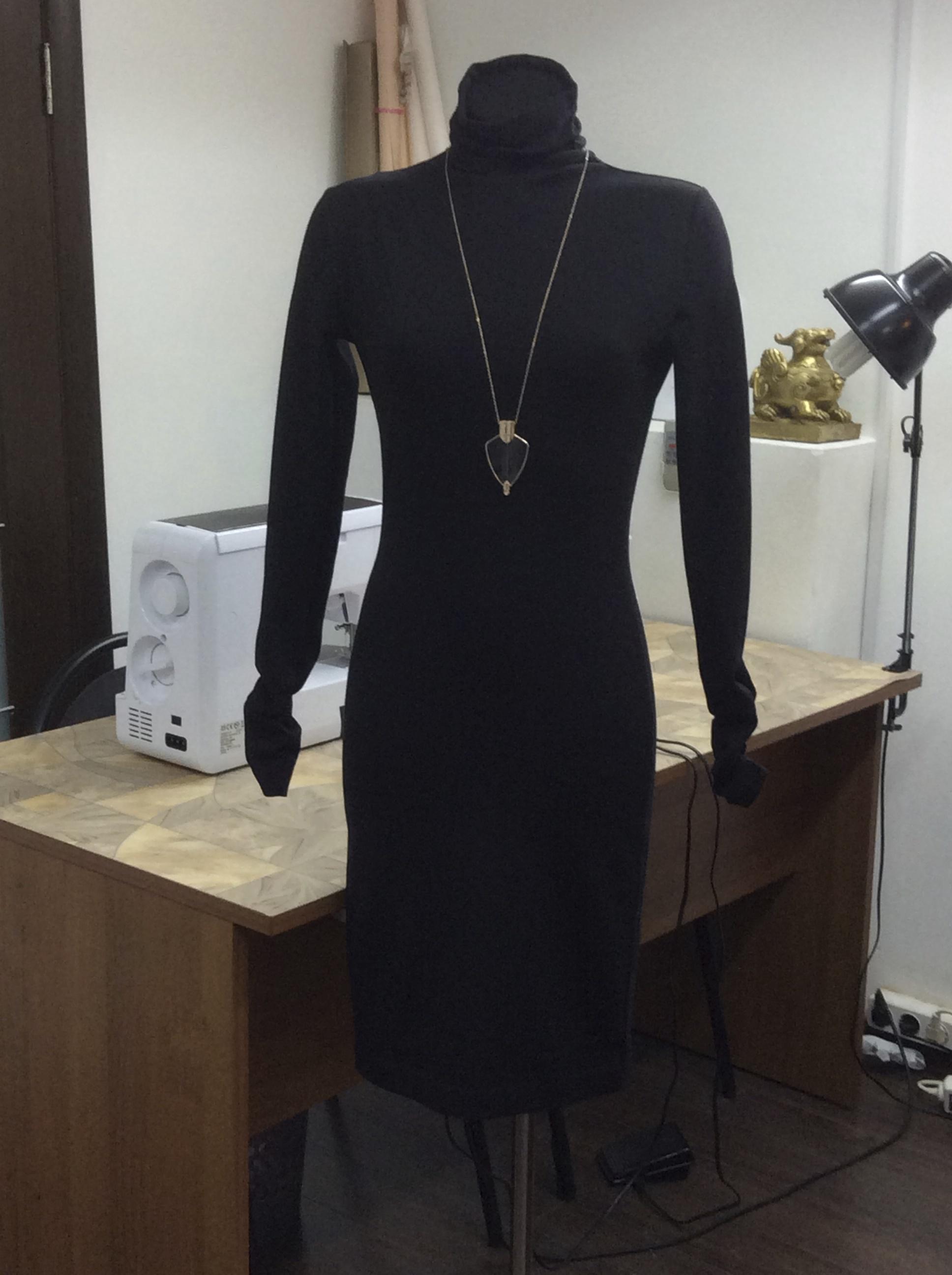 Чёрное маленькое платье шить на курсах Школа дизайнерского мастерства Елизаветы Добрицкой