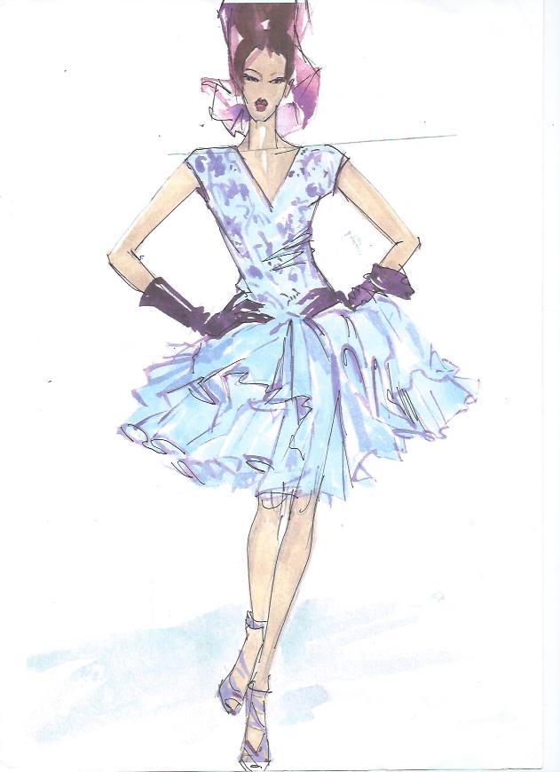 Рисунок для модельера Школа дизайнерского мастерства Елизаветы Добрицкой