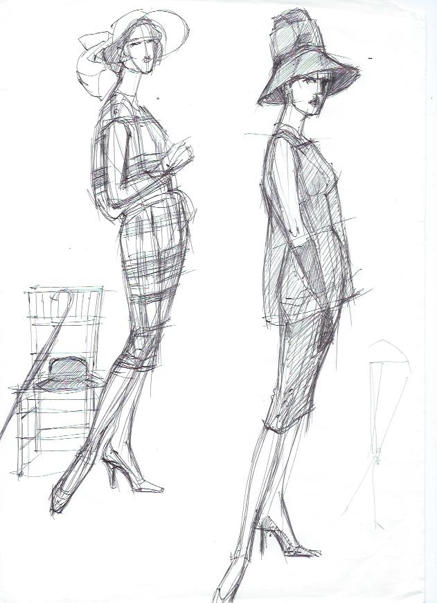 Рисунок для модельера для шитья Школа дизайнерского мастерства Елизаветы Добрицкой