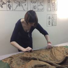 Подкладка для пальто на курсах шитья Школа дизайнерского мастерства Елизаветы Добрицкой