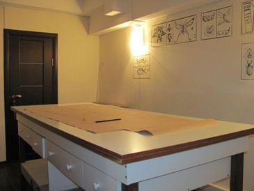 Раскройный стол в Школе Дизайнерского мастерства