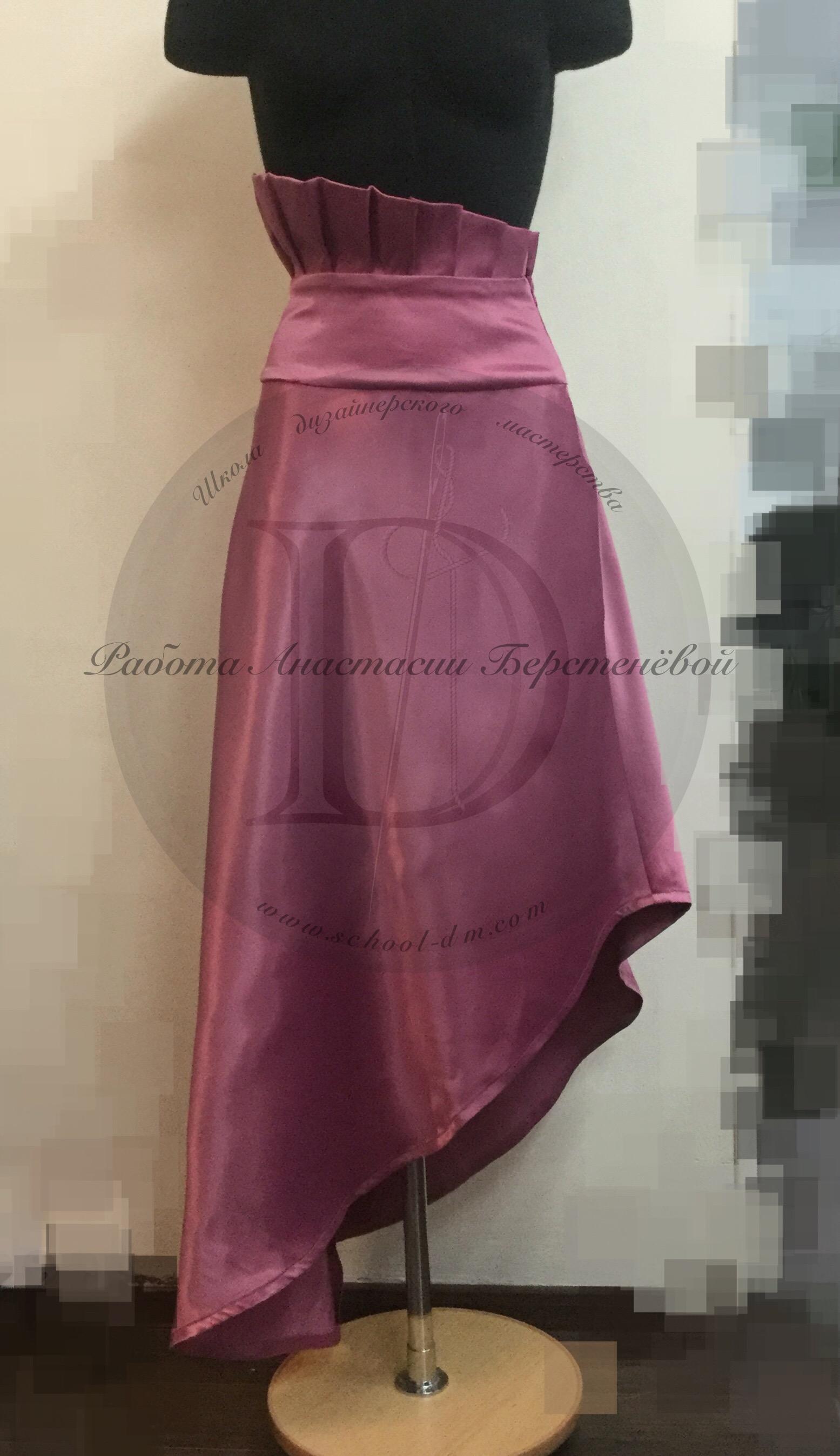 Школа дизайнерского мастерства, курсы кройки и шитья, шить юбку, юбка из атласа