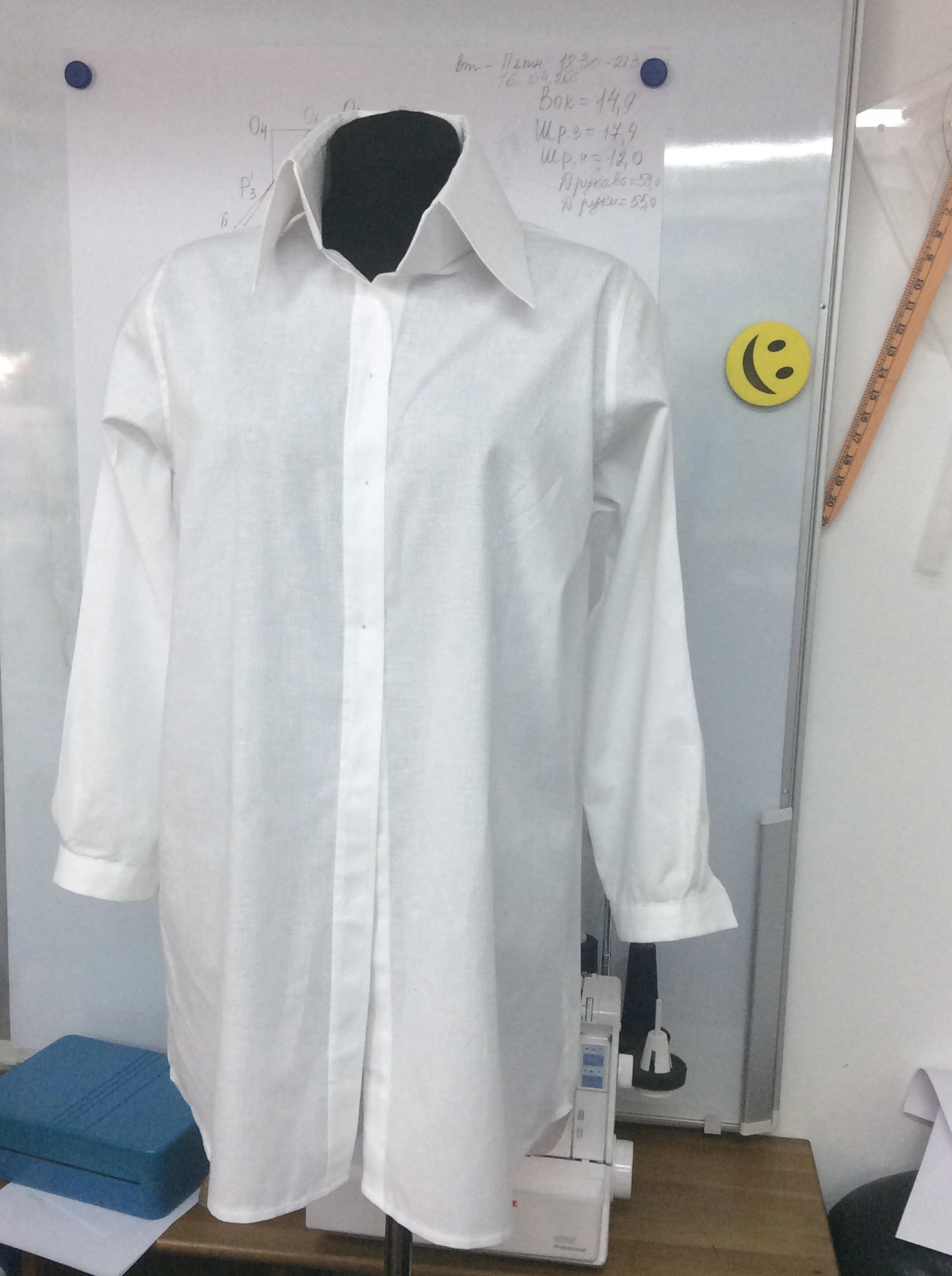 Курсы кройки и шитья Рубашка сшита в Школе дизайнерского мастерства