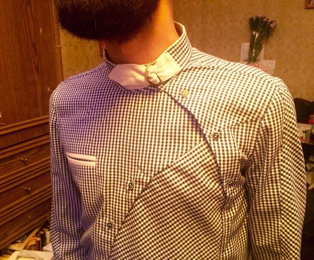 Рубашка сшита Анной Ольховик на курсах Школа дизайнерского мастерства Елизаветы Добрицкой