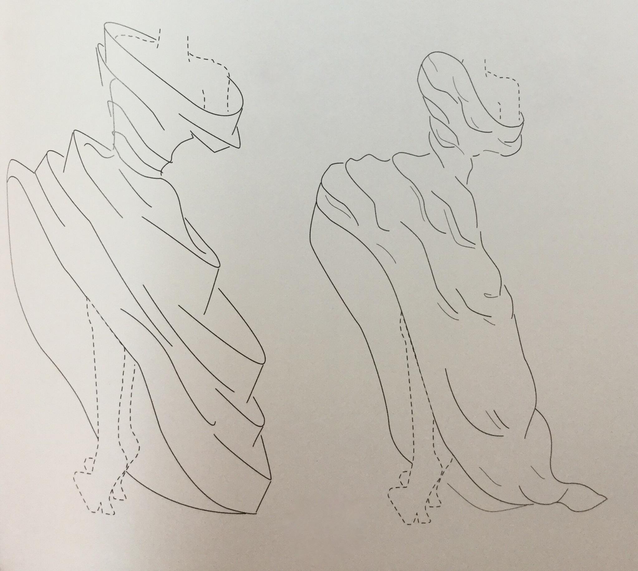 Рисунок для модельера в Школе дизайнерского мастерства