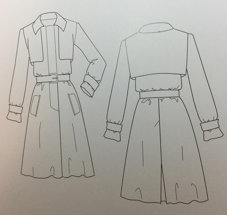 Рисунок для модельера в Школе Елизаветы Добрицкой